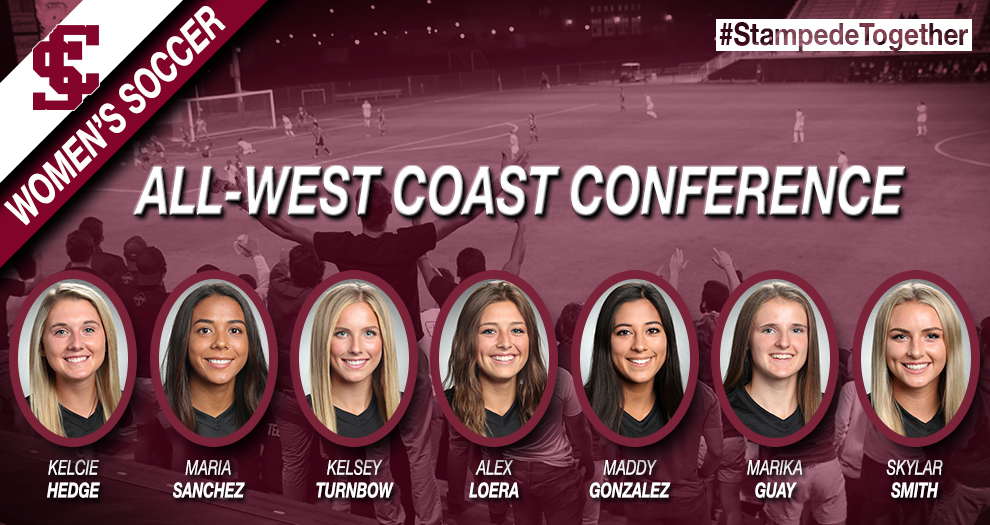 Hedge Named WCC Player of the Year, Six Other Women's Soccer Players Earn All-WCC
