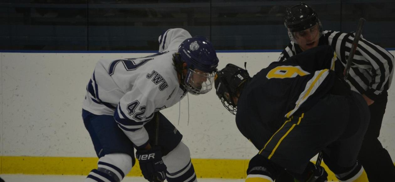 Men's Ice Hockey Beats WNE 7-1 in CCC Opener