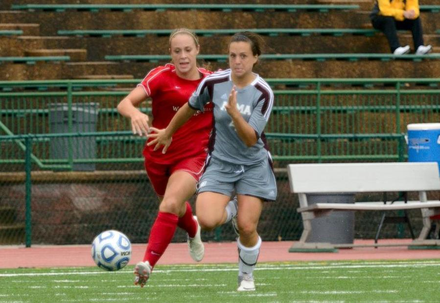 Alma Women's Soccer loses a tough 2-1 decision to #9 Washington University in St. Louis on Friday