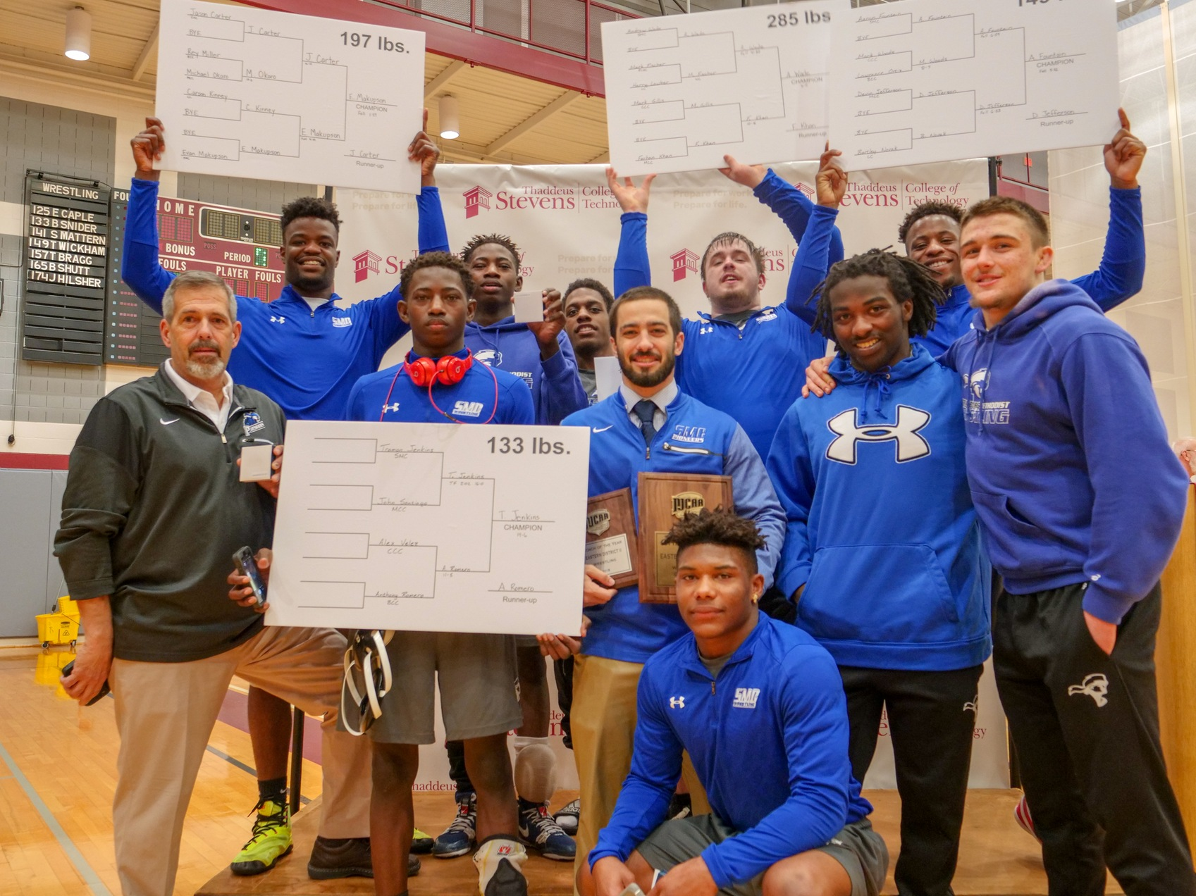 Wrestling Wins Eastern District II Tournament, Crowns 5 Champions & Coach of the Year