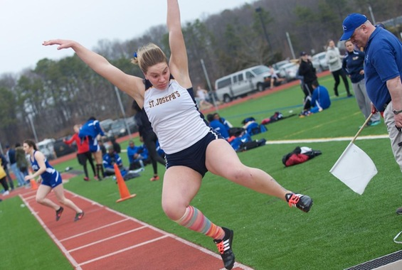 Pierno Earns Second Place in the Heptathlon at the ECAC Track & Field Championships