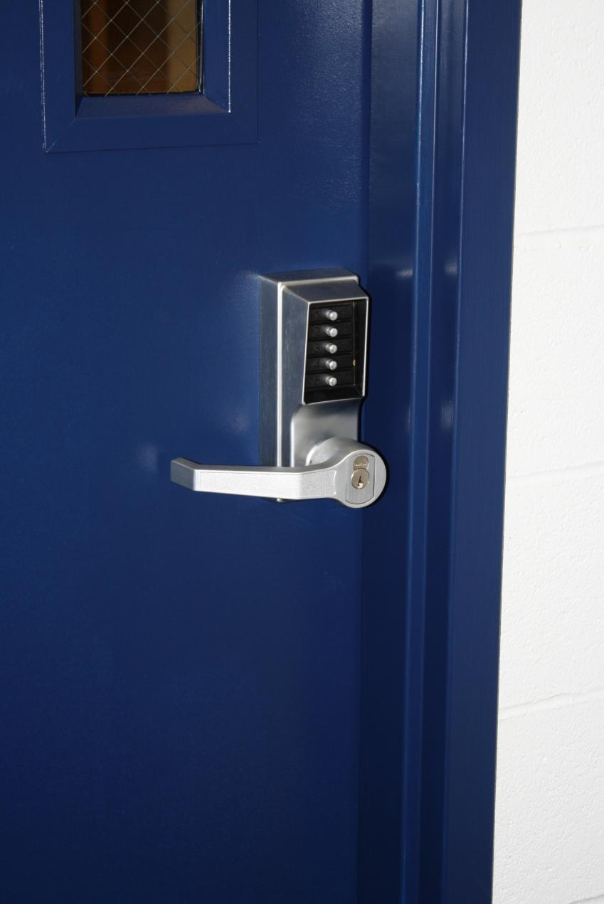 Captivating New Key Code Door Locks Are On Each Team Room To Provide More Security. New  Volleyball Locker Rooms