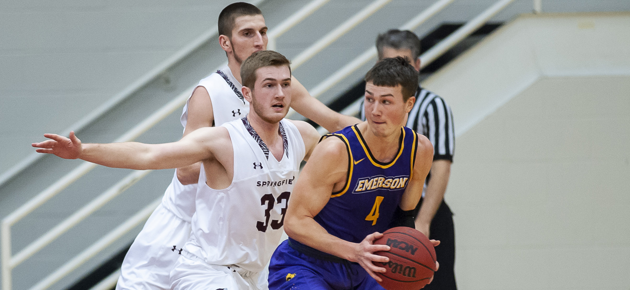Emerson Pulls Out 80-69 Win Over Men's Basketball In NEWMAC Championship Semifinals