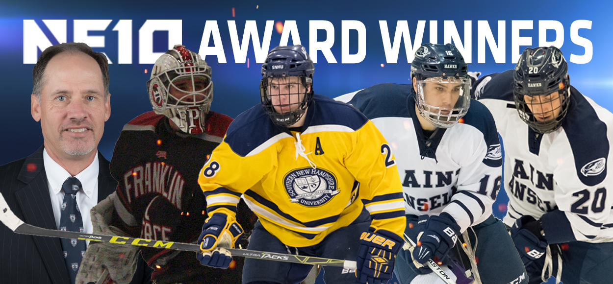 SNHU's Joe Collins Named NE10 Player of the Year; Ice Hockey All-Conference Teams, Awards Announced