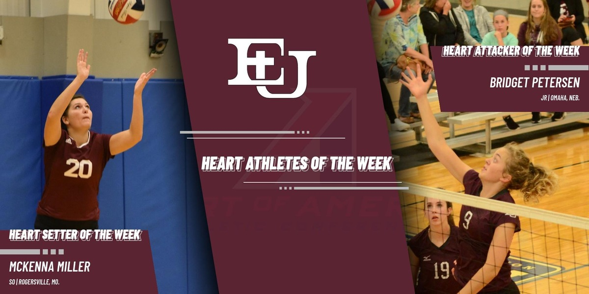 Bridget Petersen and McKenna Miller Named Heart Athletes of the Week