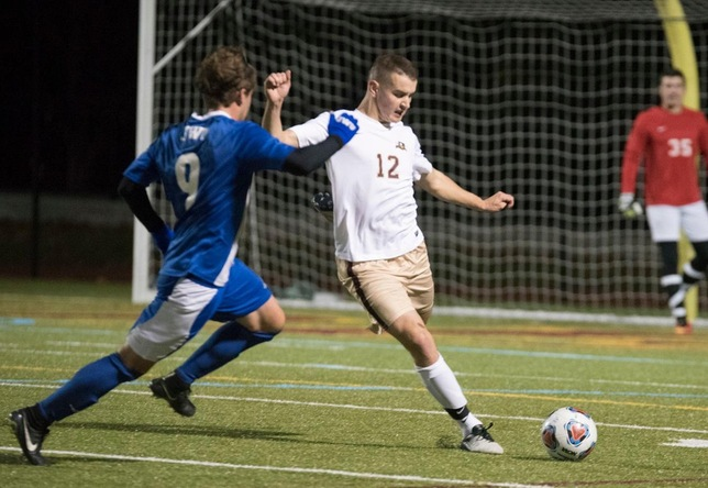 Jeff Purdy men's soccer action vs. JWU