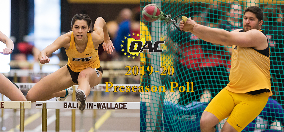 Women Picked Fourth, Men Tabbed Fifth in 2019-20 OAC Indoor Track and Field Preseason Poll