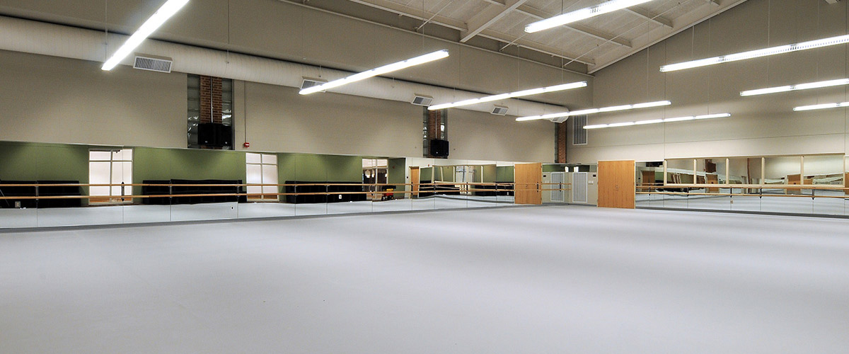 One of two dance studios at Calvin College