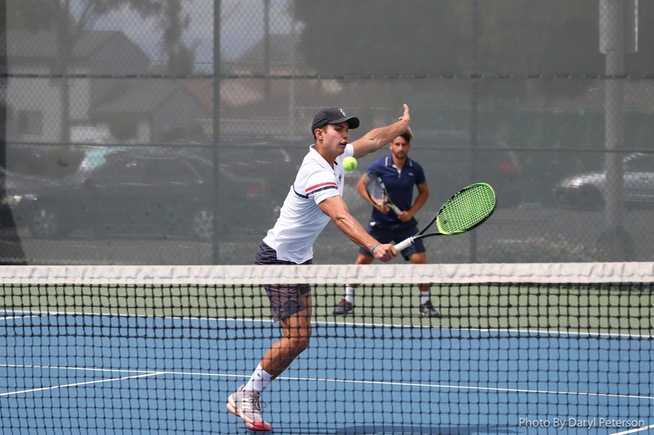 File Photo: Arthur Toledo (foreground) and Bruno Duarte (background) have advanced in doubles at the state championships