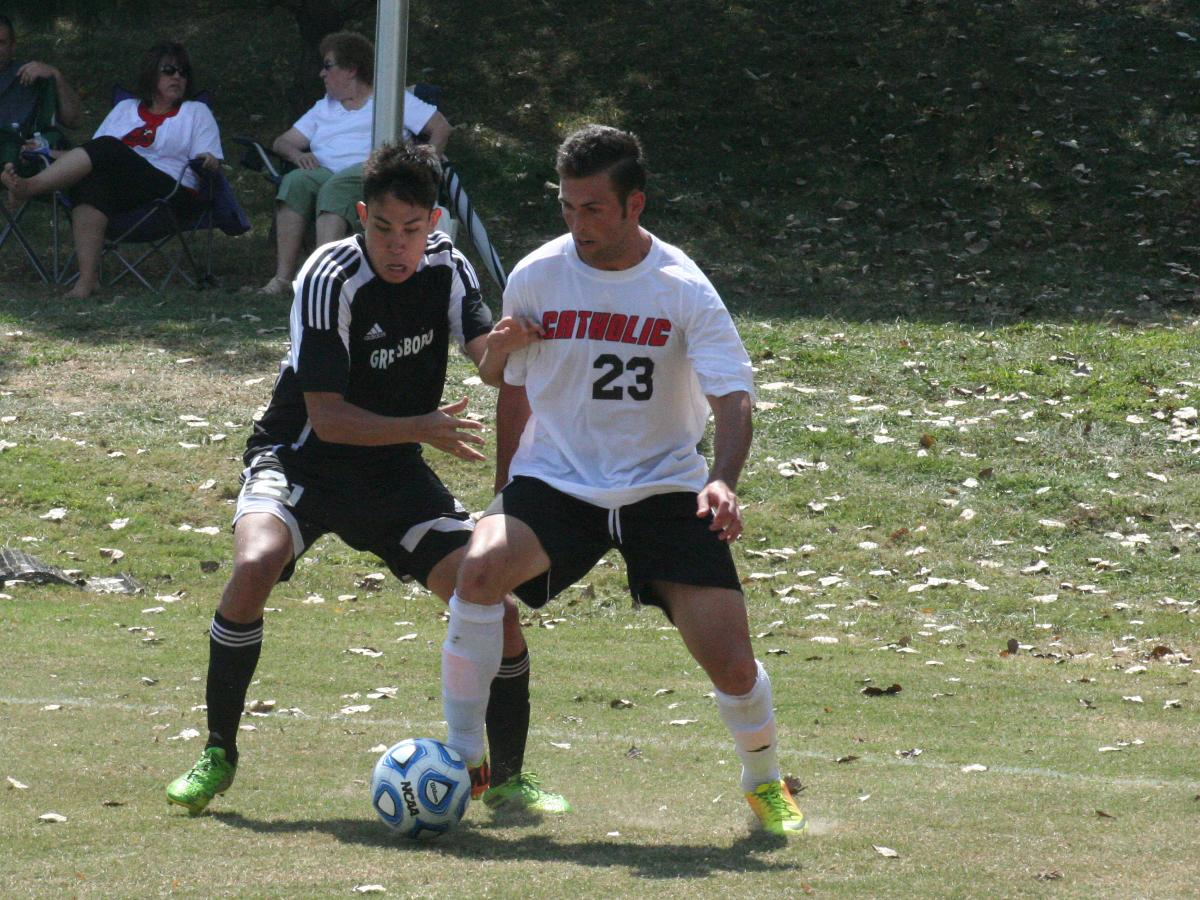 CUA Men's Soccer Overpowers Greensboro For The First 2013 Win
