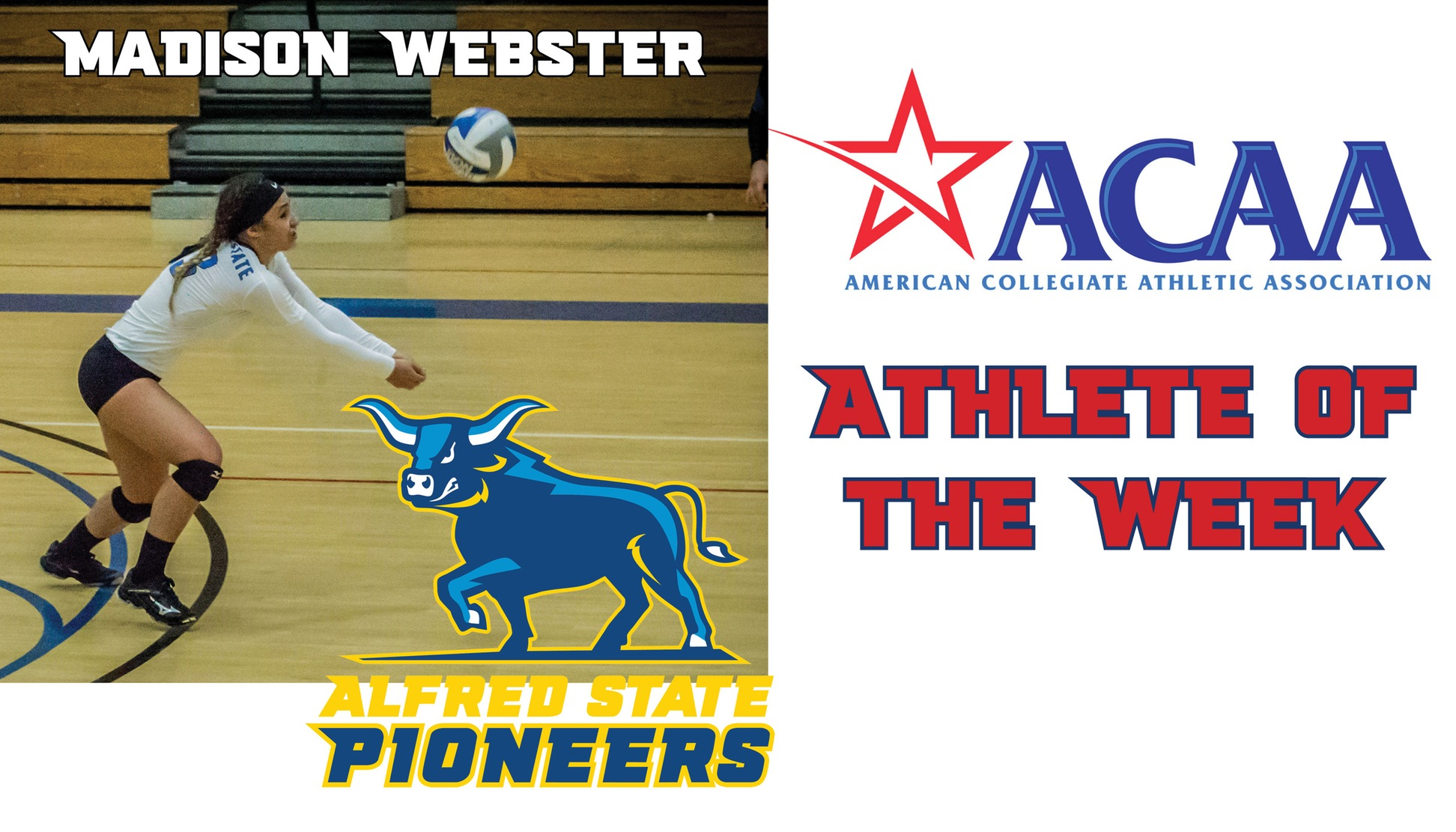 Madison Webster named ACAA Player of the Week