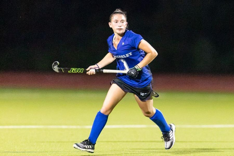 Senior Hannah Maisano scored her second goal of the season in the setback (Frank Poulin).