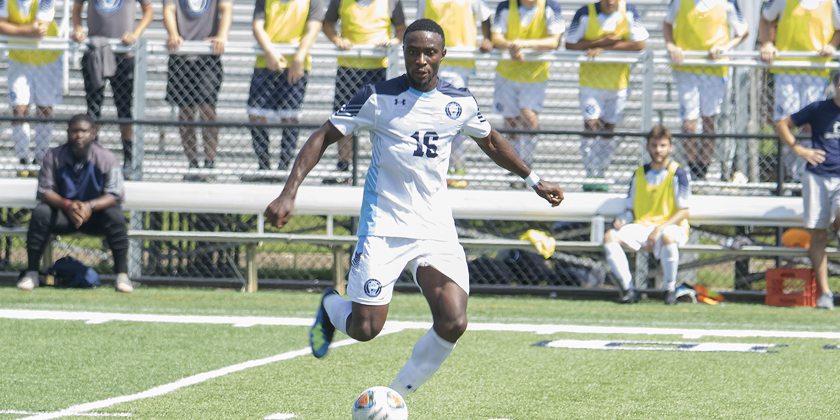 Men's Soccer outlasts Stevenson, 3-2 to win ECAC Pod