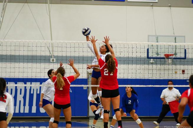 File Photo: Jasmine McNeal led the Falcons with nine kills