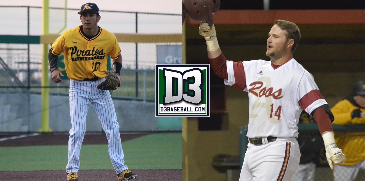 Austin College's Taff and Southwestern's Montgomery Jr. highlight D3Baseball.com All-Region Team