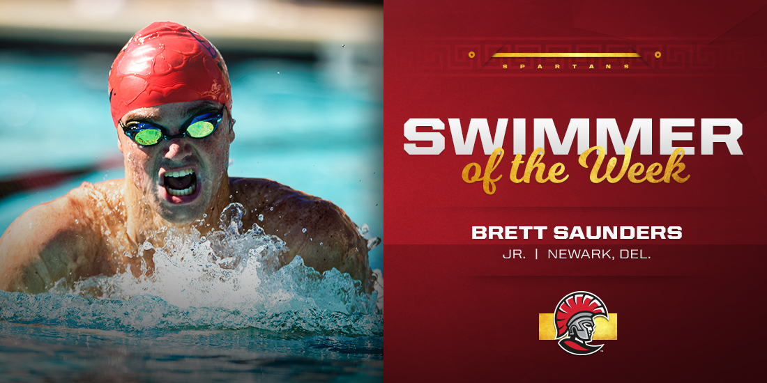 Brett Saunders Earns SSC Swimmer of the Week Honors