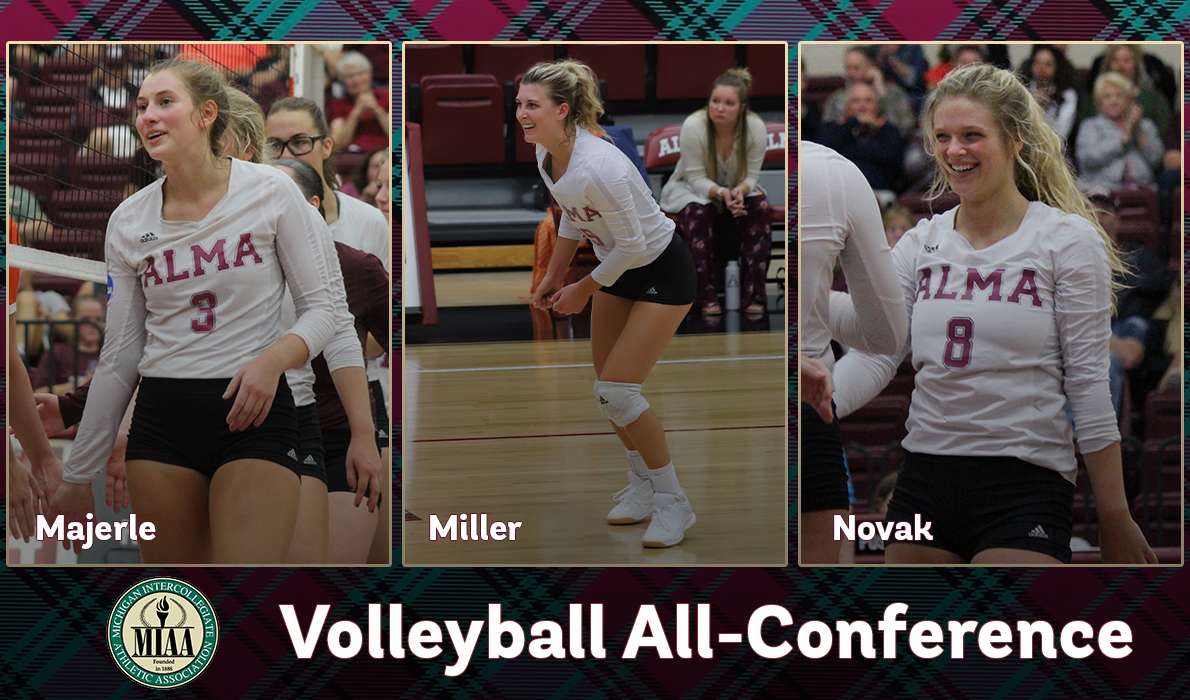 Three Volleyball Players Named to All-MIAA Teams