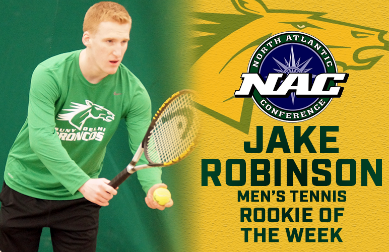 Jake Robinson Takes Perfect Conference Record to NAC Rookie of the Week