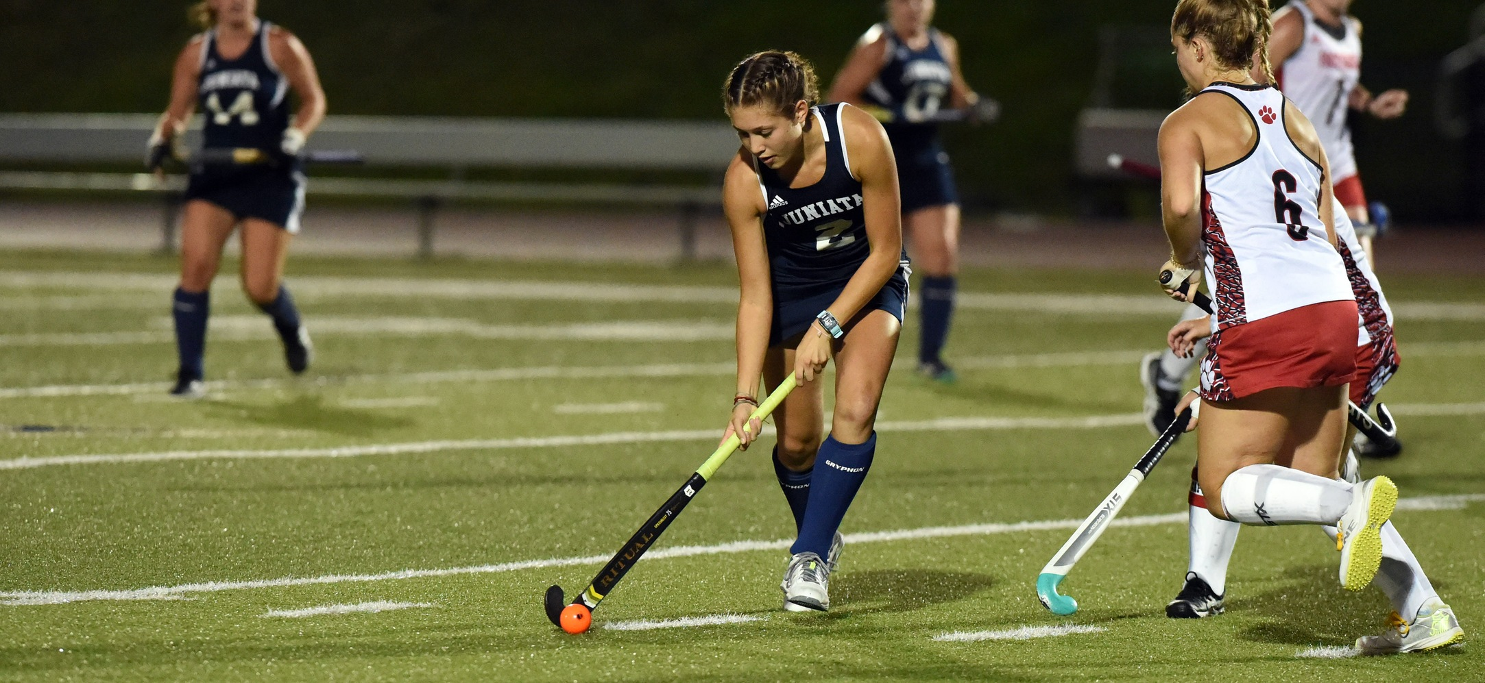 Grace Alexander scored two goals in the Eagles loss at Susquehanna.