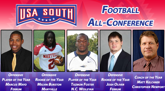 USA South Announces Football All-Conference Awards