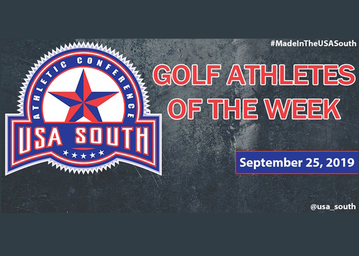 Mathers earns second USA South Golfer of the Week recognition of the fall