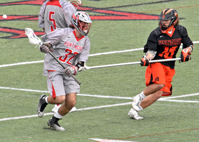 Mike George scored a first-quarter goal to give the Hawks an early four-goal lead in Saturday's 9-3 win over Hendrix.