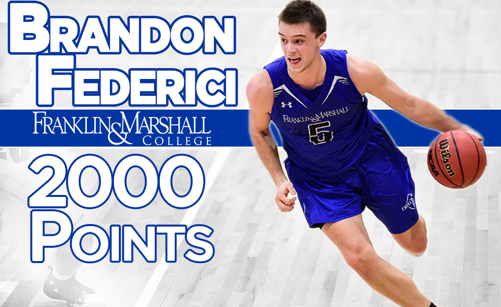 Diplomats Fall to Swarthmore; Federici Reaches 2,000 Points