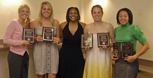 Hayes, Cook take top honors at women's basketball awards banquet