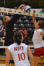 American Outlasts UMBC Volleyball in Five Sets