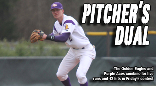 Golden Eagles and Purple Aces open series with a pitcher's dual