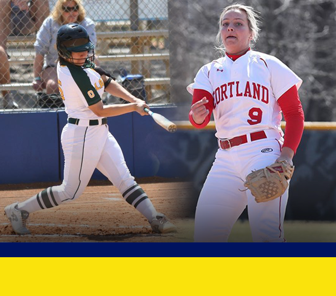 Cortland and Oswego capture weekly softball awards