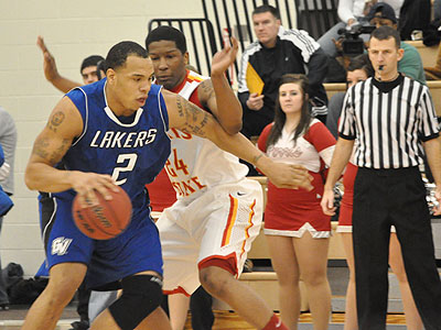 FSU's Daniel Sutherlin Guards GVSU's Nick Waddell On Saturday (Photo by Rob Bentley)