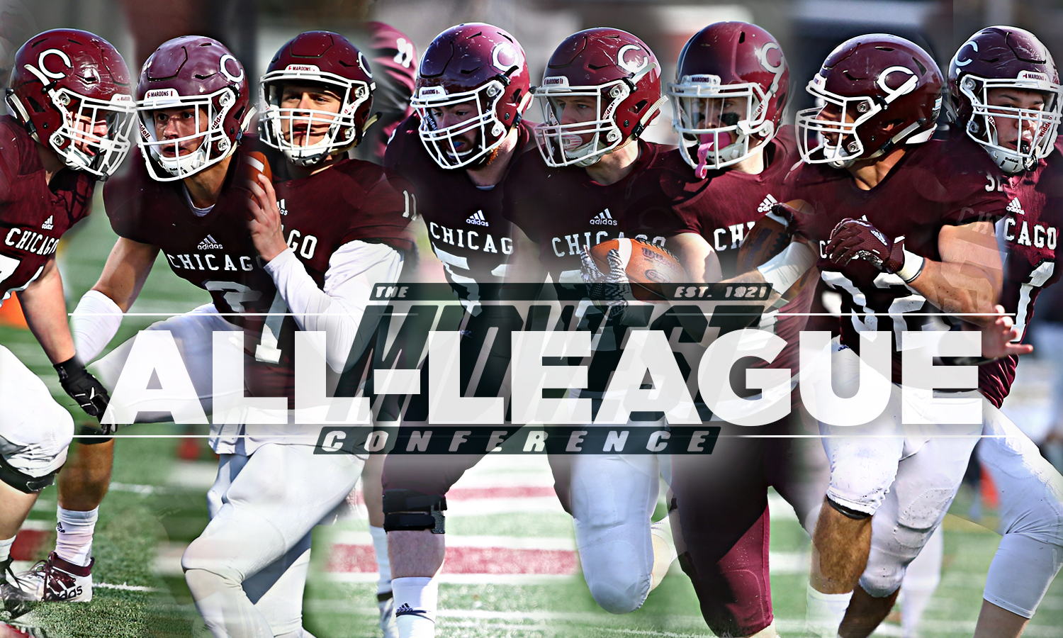 Ten Maroons Placed on All-Midwest Conference Teams