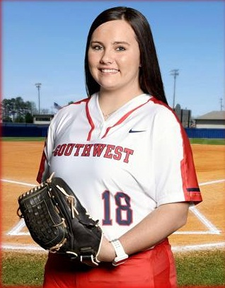 Jennie Bryant, Freshman Infielder, Southwest Tennessee, TCCAA Player of the Week 3/26