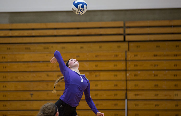 Women's volleyball ends historic season with 3-1 loss at Saint Rose