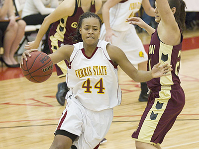 Senior Tiara Adams helped the Bulldogs to a home upset over Gannon (Photo by Ben Amato)