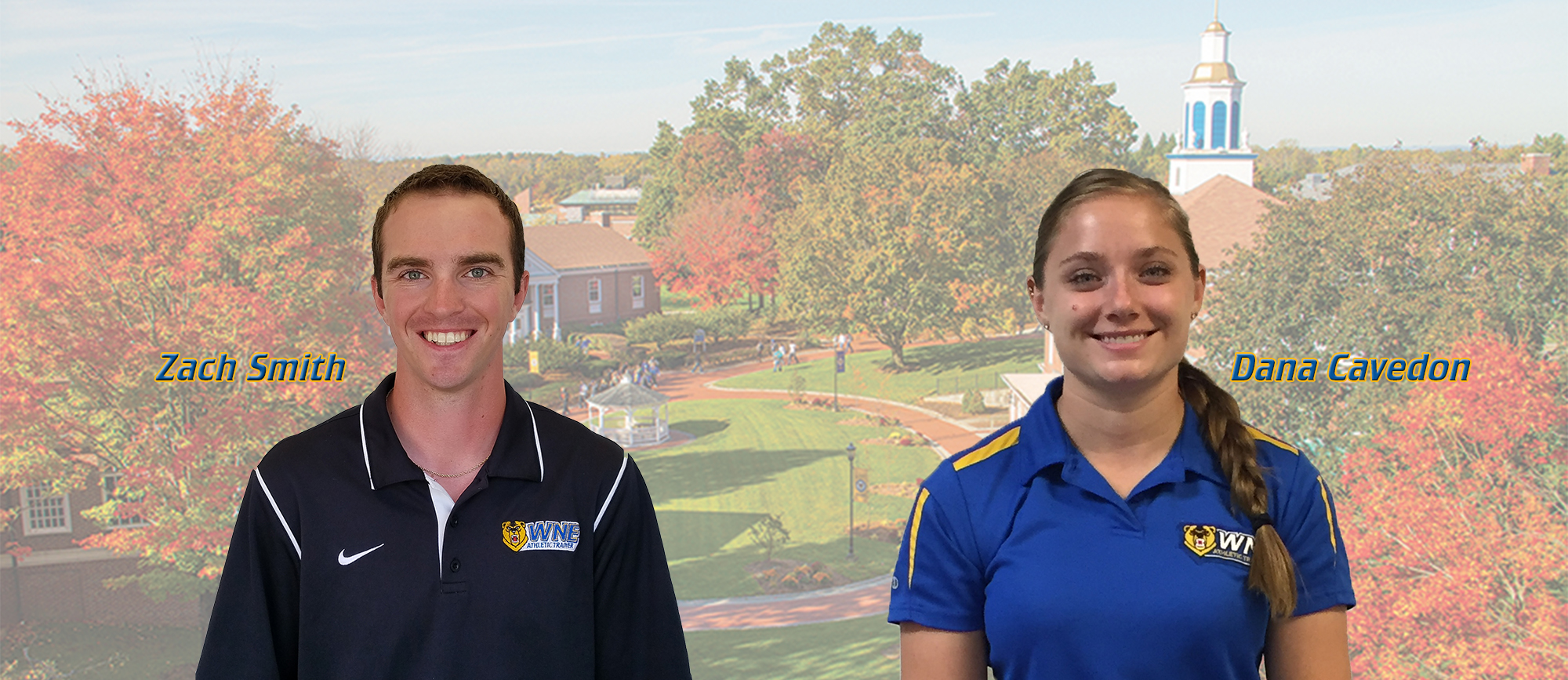 Dana Cavedon & Zach Smith Join Sports Medicine Staff at Western New England