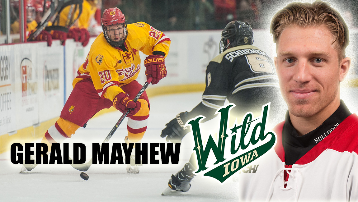 Ferris State Hockey Standout Gerald Mayhew Signs Pro Contract With American Hockey League's Iowa Wild
