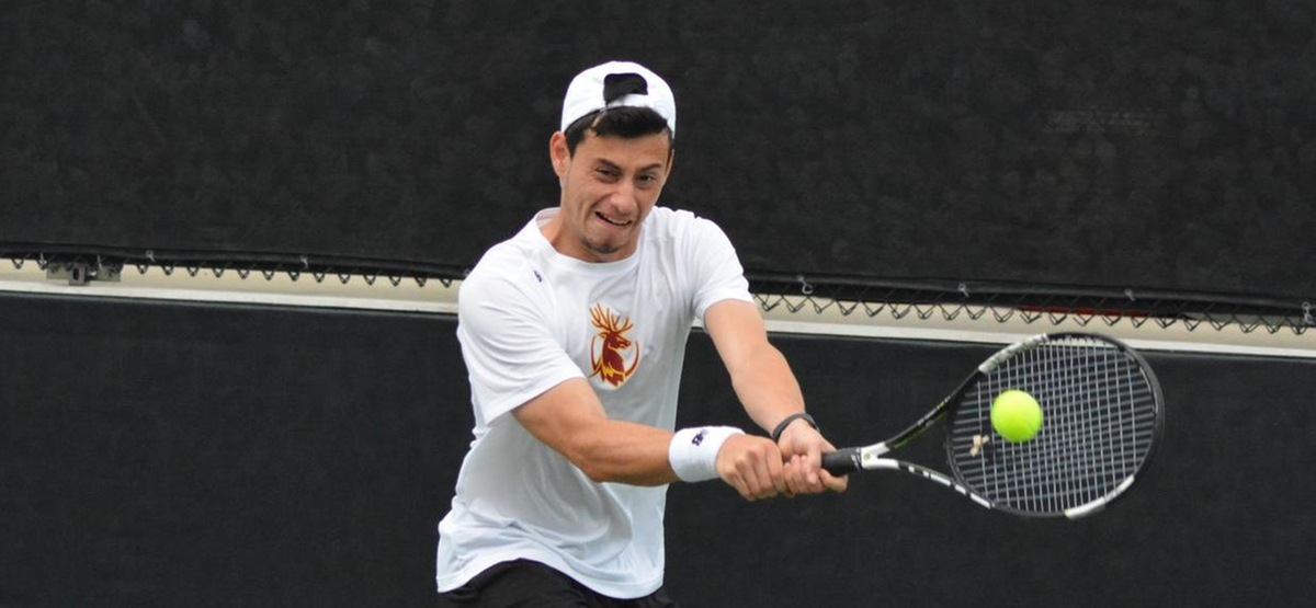 Senior Alfred Simental earned ITA Scholar-Athlete honors in his final season with the Stags