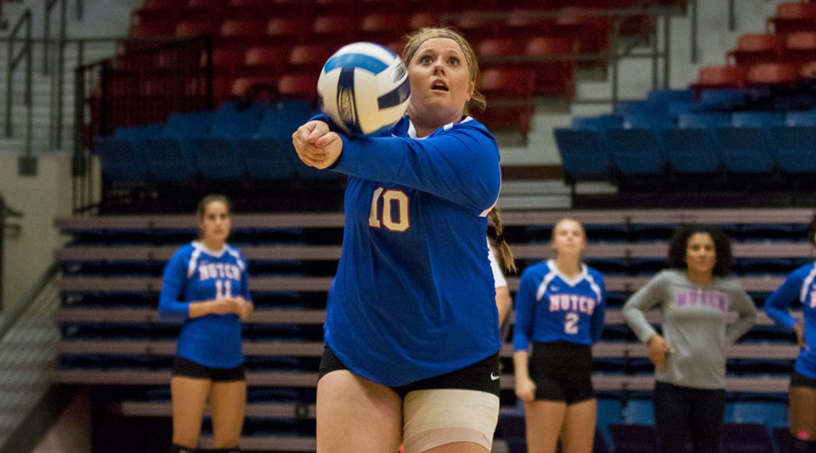 Kelsey Mulligan and the 2017 Blue Dragon sophomores will be honored on Friday before Hutchinson's Jayhawk West match vs. Pratt at 6:30 p.m. at the Sports Arena. (Allie Schweizer/Blue Dragon Sports Information)