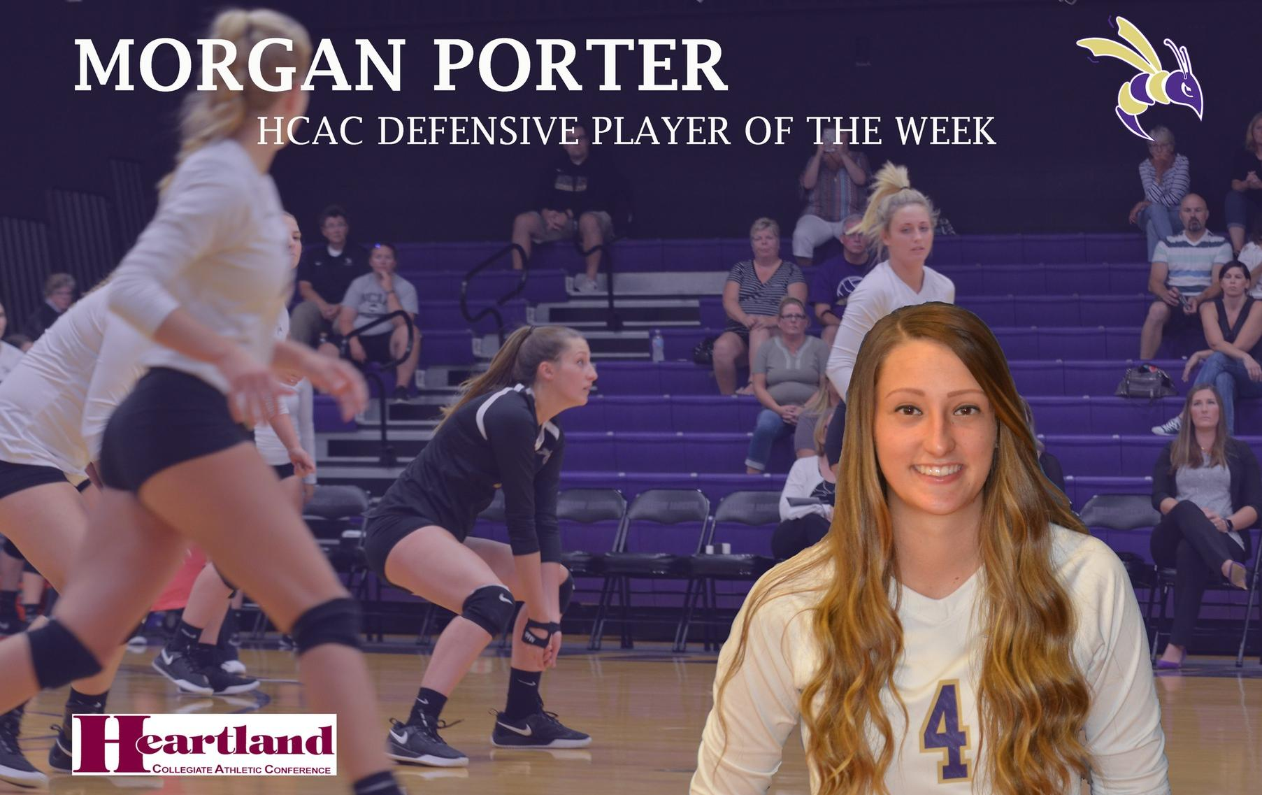 Porter Named the HCAC Defensive Player of the Week