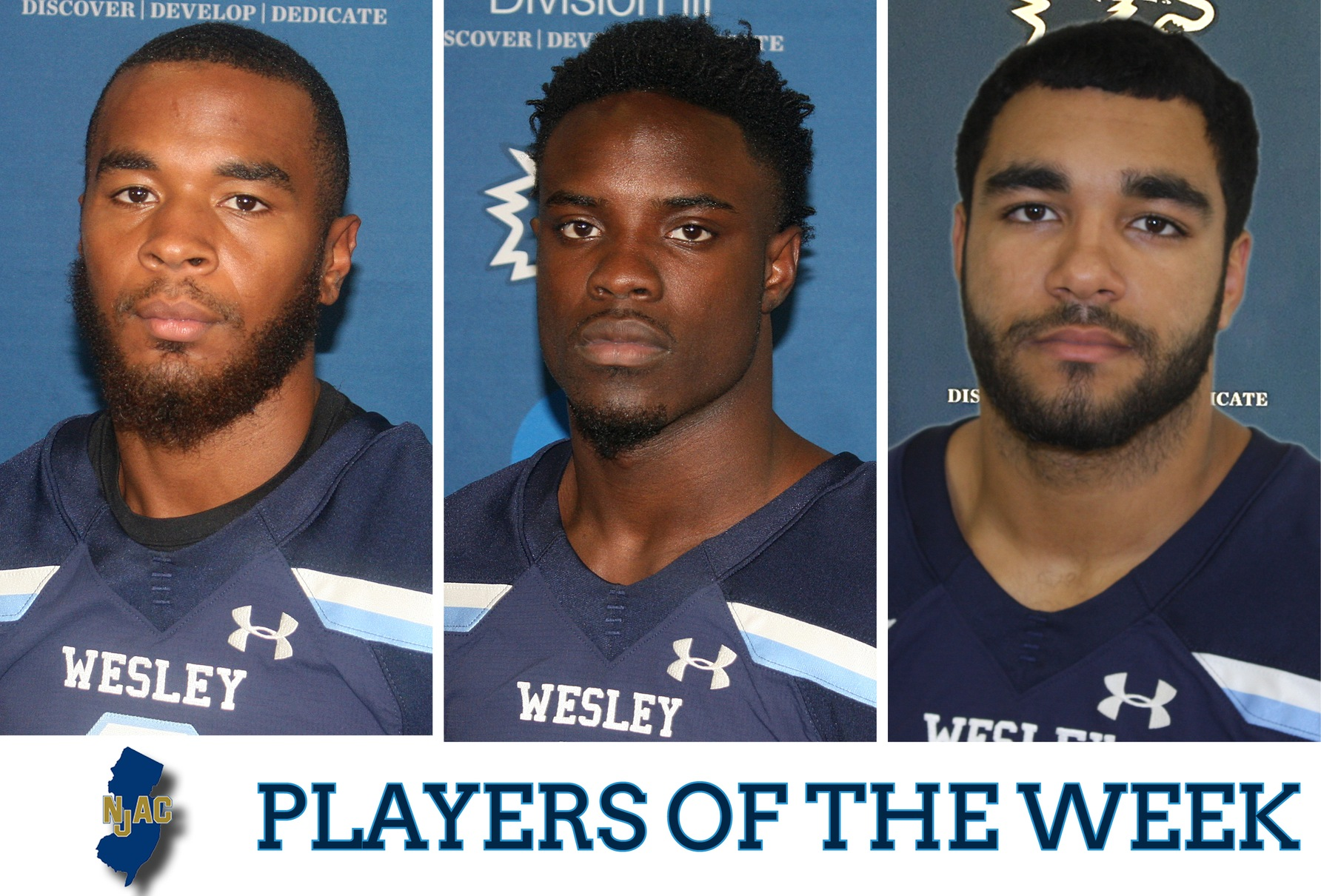 Three Wolverines pick up NJAC Player of the Week honors