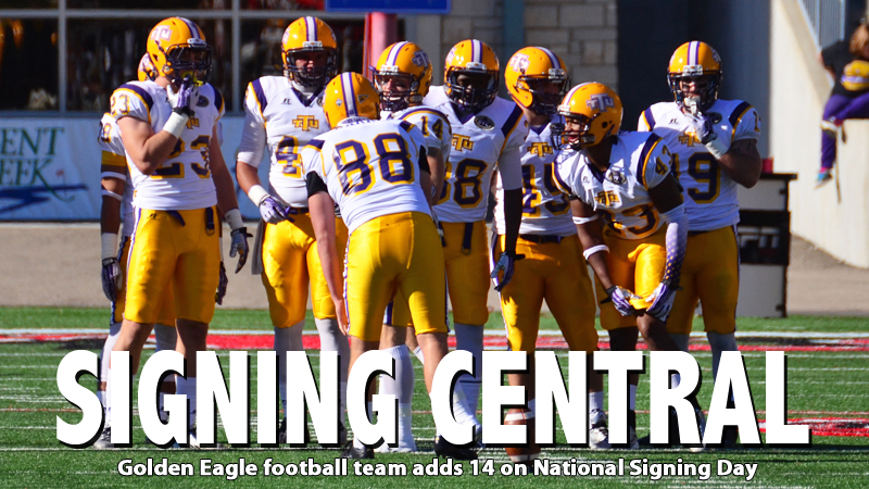 Golden Eagle football staff announces 14 newcomers on National Signing Day