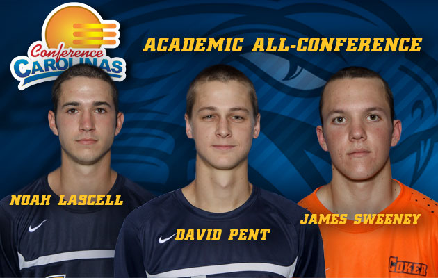 Lascell, Pent and Sweeney Named to Men's Soccer Academic All-Conference Team