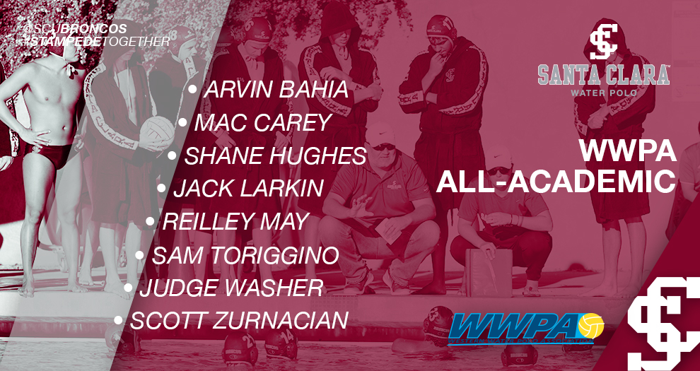 Eight From Men's Water Polo Named WWPA All-Academic