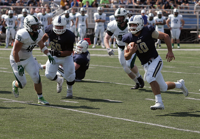 Football Remains Undefeated With Homecoming Win