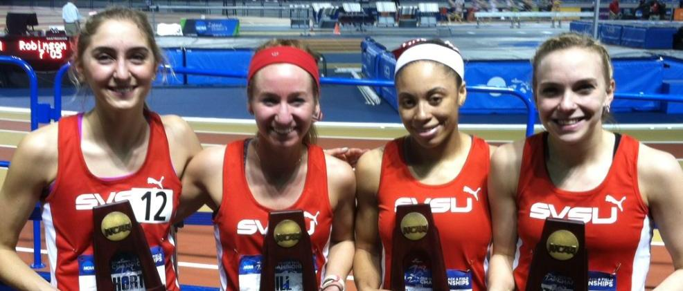 Women's DMR Earns All-American Honors on Day One of Indoor Nationals