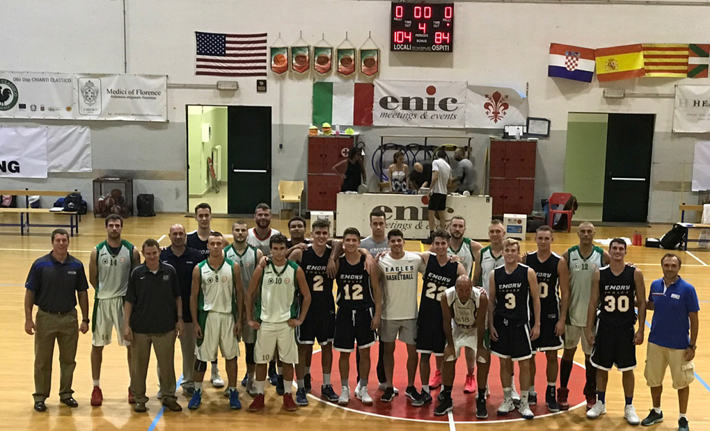 Emory Men's Basketball Raises Italy Record To 2-0 After Topping Florence All-Stars