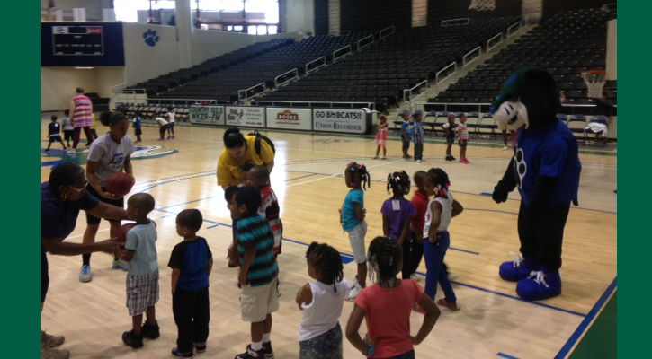 Early Learning Center Visits with Georgia College Basketball