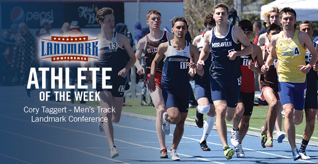 Taggert Honored as Landmark Conference Men's Track Athlete of the Week